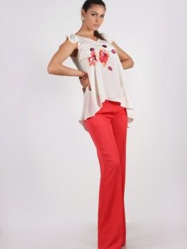 Дълъг червен панталон