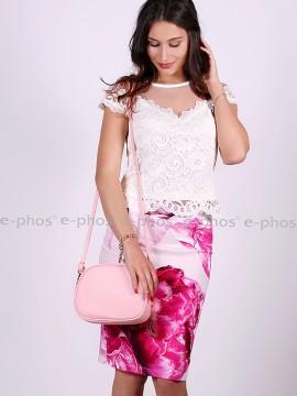 Елегантна дамска пола с флорални мотиви