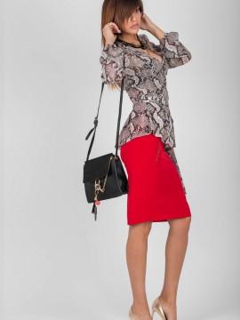 Елегантна дамска пола с висока талия