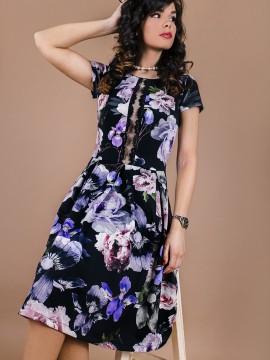 Дамска рокля с флорален десен