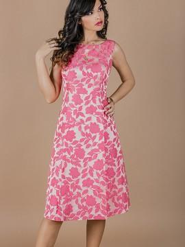 Елегантна рокля от италиански фин жакардов плат