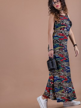 Дамска ежедневна рокля от красив релефен плат