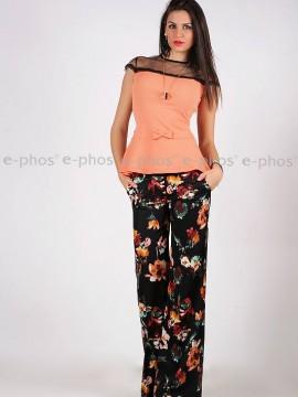 Елегантен панталон с принт на цветя