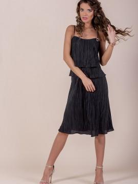 Елегантна черна дамска рокля