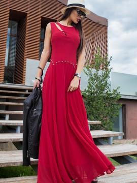 Дълга рокля в червено