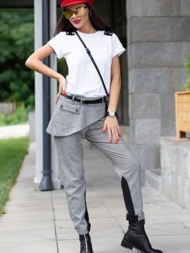 Екстравагантен дамски панталон - каре