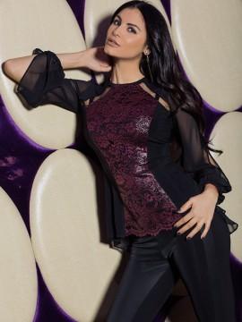 Елегантна дамска блуза с дантела