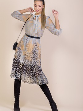 Дамска рокля с животински принт