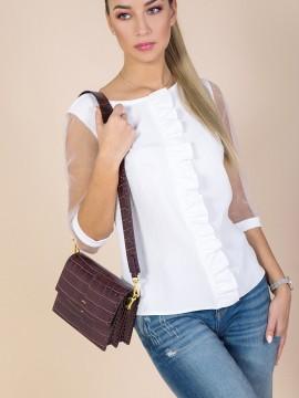 Дамска блуза с прозрачни ръкави