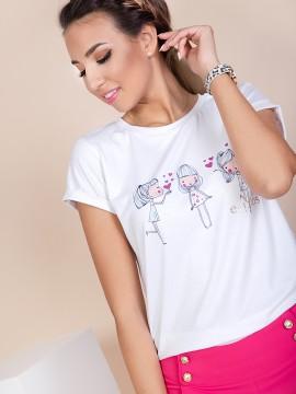 Дамска тениска с закачлива щампа
