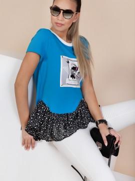 Дамска блуза  с харбала от шифон