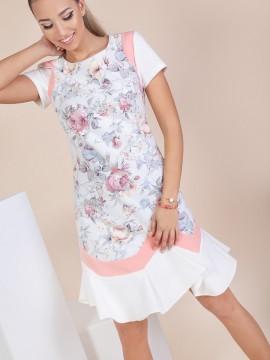 Стилна дамска рокля с принт на цветя