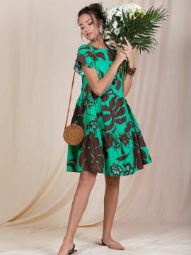 Кокетна дамска рокля от памук