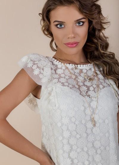 Дамска блуза от памучна дантела
