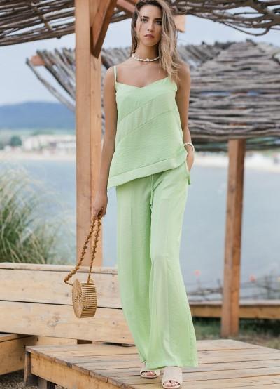 Дамски сет в цвят зелена ябълка