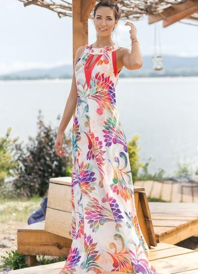 Дълга елегантна дамска рокля